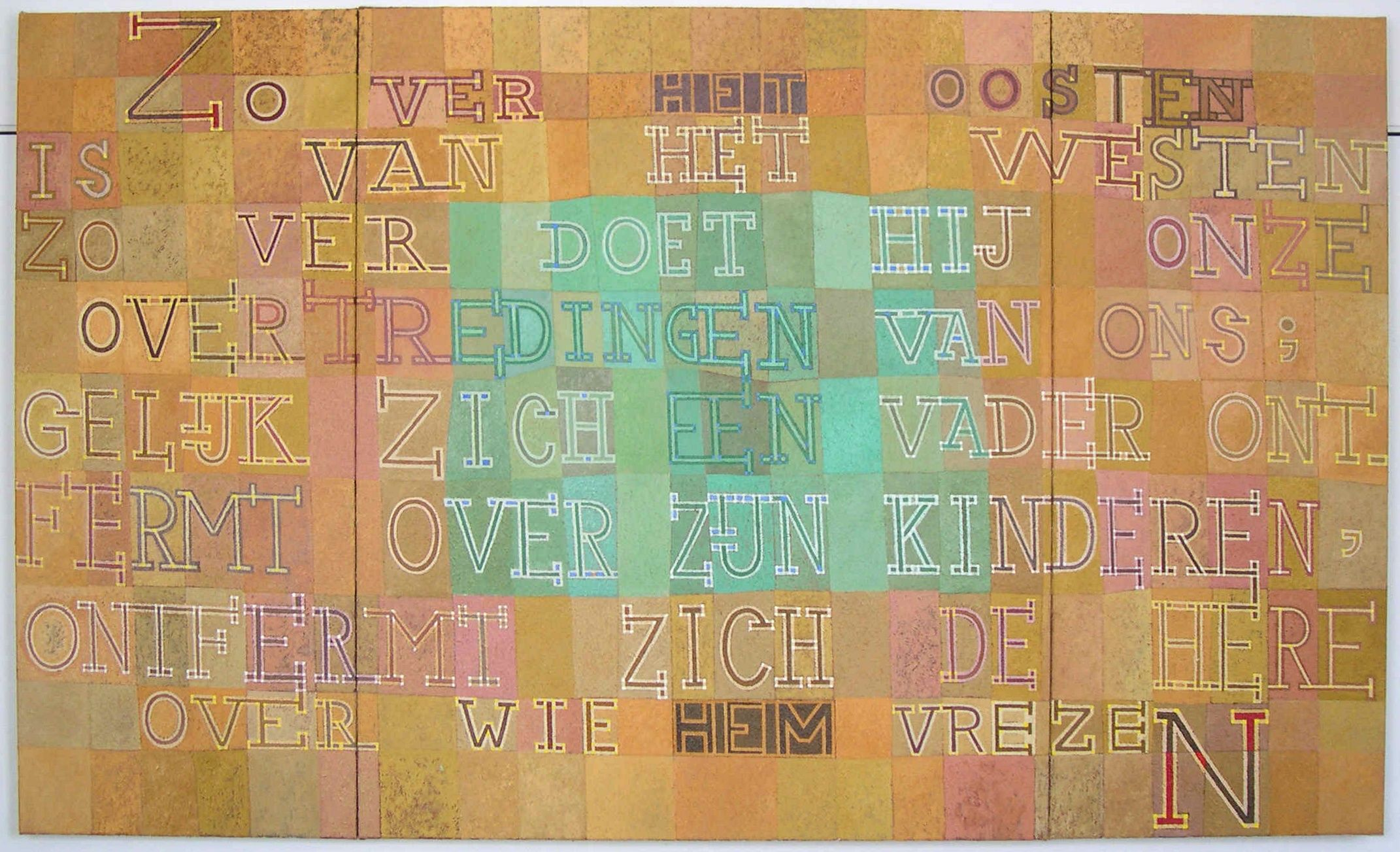 Drieluik Gereformeerde Kerk Den Bosch, voorkant (200x120, uit collectie)