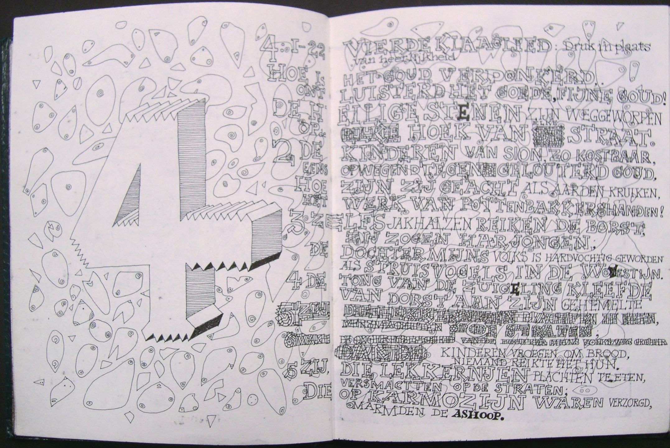 Klaagliederen hoofdstuk 4 (32x20, uit collectie)